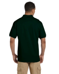 Forest Green 6.5 oz. Ultra Cotton® Piqué Polo as seen from the back