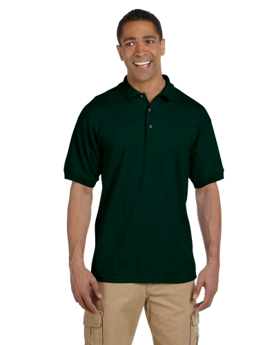 Forest Green 6.5 oz. Ultra Cotton® Piqué Polo as seen from the front