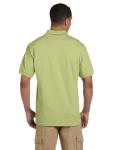 Kiwi 6.5 oz. Ultra Cotton® Piqué Polo as seen from the back