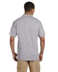 Sport Grey 6.5 oz. Ultra Cotton® Piqué Polo as seen from the back