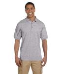 Sport Grey 6.5 oz. Ultra Cotton® Piqué Polo as seen from the front