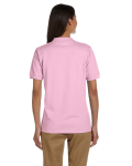 Light Pink Ladies' 6.5 oz. Ultra Cotton® Piqué Polo as seen from the back
