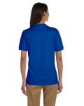Royal Ladies' 6.5 oz. Ultra Cotton® Piqué Polo as seen from the back