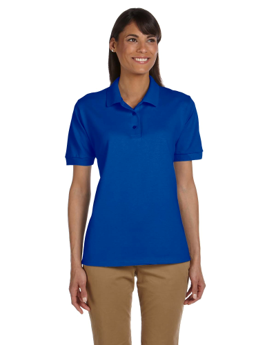 Royal Ladies' 6.5 oz. Ultra Cotton® Piqué Polo as seen from the front