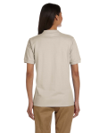 Sand Ladies' 6.5 oz. Ultra Cotton® Piqué Polo as seen from the back