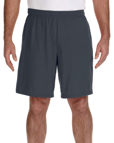 Charcoal Performance™ 5.5 oz. Nine Inch Short with Pockets as seen from the front