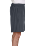 Charcoal Performance™ 5.5 oz. Nine Inch Short with Pockets as seen from the sleeveleft