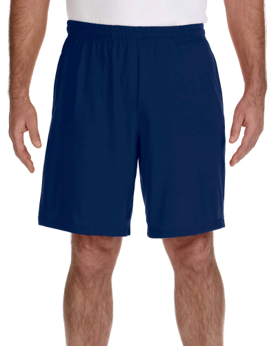 Navy Performance™ 5.5 oz. Nine Inch Short with Pockets as seen from the front