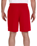 Red Performance™ 5.5 oz. Nine Inch Short with Pockets as seen from the back