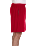Red Performance™ 5.5 oz. Nine Inch Short with Pockets as seen from the sleeveleft