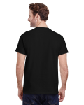 Black Classic Cotton T as seen from the back