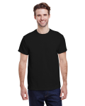 Black Classic Cotton T as seen from the front