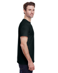 Black Classic Cotton T as seen from the sleeveleft