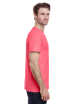 Coral Silk Classic Cotton T as seen from the sleeveleft