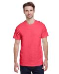 Heather Red Classic Cotton T as seen from the front
