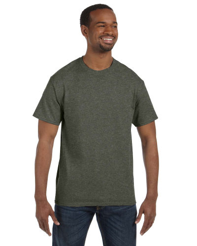 Hthr Military Green Classic Cotton T as seen from the front