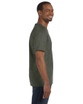 Hthr Military Green Classic Cotton T as seen from the sleeveleft