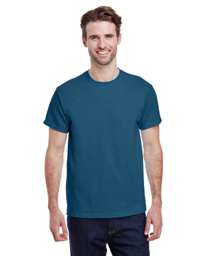 Indigo Blue Classic Cotton T as seen from the front