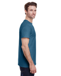 Indigo Blue Classic Cotton T as seen from the sleeveleft