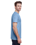 Light Blue Classic Cotton T as seen from the sleeveleft