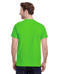 Lime Classic Cotton T as seen from the back
