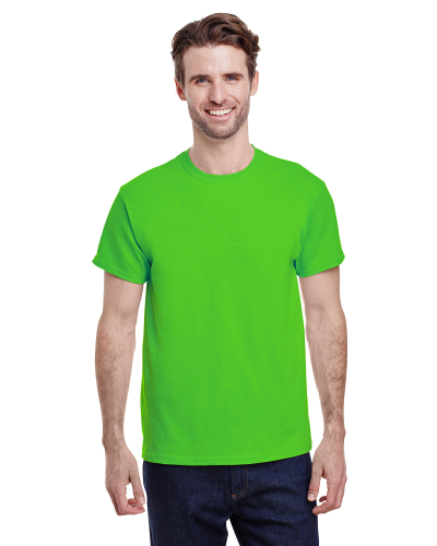 Lime Classic Cotton T as seen from the front
