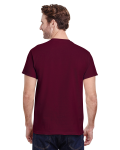 Maroon Classic Cotton T as seen from the back