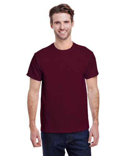 Maroon Classic Cotton T as seen from the front