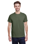 Military Green Classic Cotton T as seen from the front