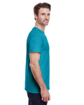 Tropical Blue Classic Cotton T as seen from the sleeveleft