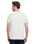 White Classic Cotton T as seen from the back