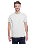 White Classic Cotton T as seen from the front