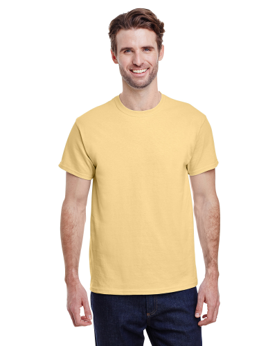 Yellow Haze Classic Cotton T as seen from the front
