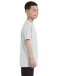 Ash Grey Classic Cotton  Youth T as seen from the sleeveleft
