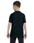 Black Classic Cotton  Youth T as seen from the back