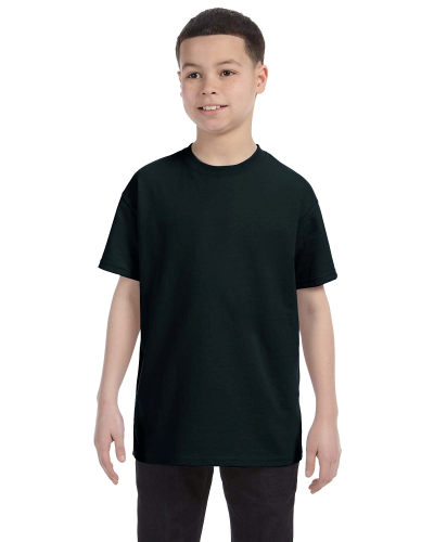 Black Classic Cotton  Youth T as seen from the front