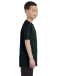 Black Classic Cotton  Youth T as seen from the sleeveleft