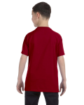 Cardinal Red Classic Cotton  Youth T as seen from the back