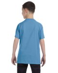 Carolina Blue Classic Cotton  Youth T as seen from the back