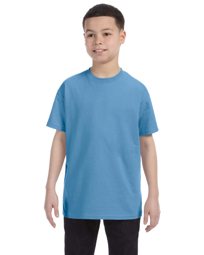 Carolina Blue Classic Cotton  Youth T as seen from the front