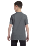 Charcoal Classic Cotton  Youth T as seen from the back