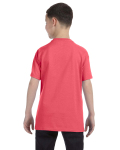 Coral Silk Classic Cotton  Youth T as seen from the back