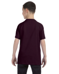 Dark Chocolate Classic Cotton  Youth T as seen from the back