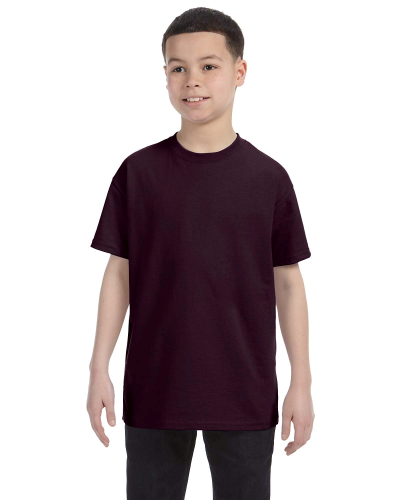 Dark Chocolate Classic Cotton  Youth T as seen from the front
