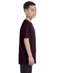 Dark Chocolate Classic Cotton  Youth T as seen from the sleeveleft