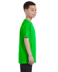 Electric Green Classic Cotton  Youth T as seen from the sleeveleft