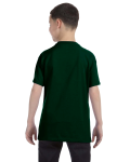 Forest Green Classic Cotton  Youth T as seen from the back
