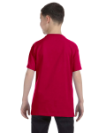 Garnet Classic Cotton  Youth T as seen from the back