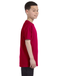 Garnet Classic Cotton  Youth T as seen from the sleeveleft