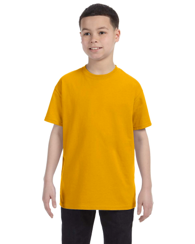 Gold Classic Cotton  Youth T as seen from the front
